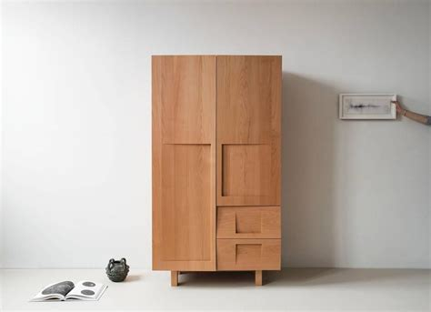 Beech Wardrobes For Sale by Workstead Wardrobe In Beech With Solid Wood Faceted Doors