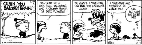 calvin and hobbes valentines day calvin and hobbes midlife crisis hawaii