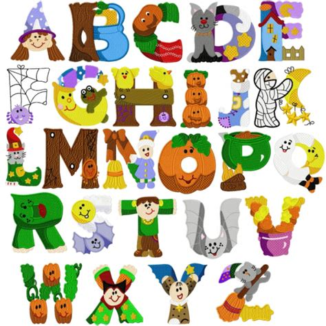 free printable halloween alphabet letters alphabet halloween