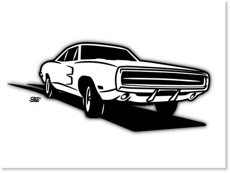1970 dodge charger | automotive artwork by greg