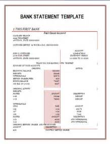 create fake bank statement template free word templates