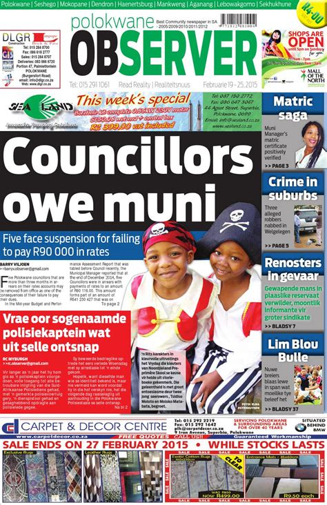 polokwane observer 12 february 2015 web issuu polokwane observer 19 february 2015 web by polokwane
