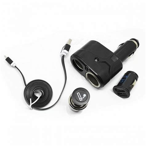 Kabel Lighter Cigarate 2 Meter To Dc Promo zapalovač 1 to 2 zapalovač adapt 233 r usb nab 237 ječka do auta micro usb kabel pro samsung