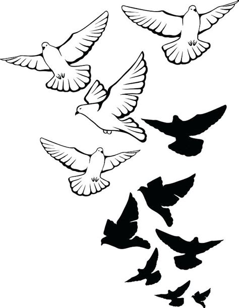bird outline tattoo dove flying outline outline flying dove design
