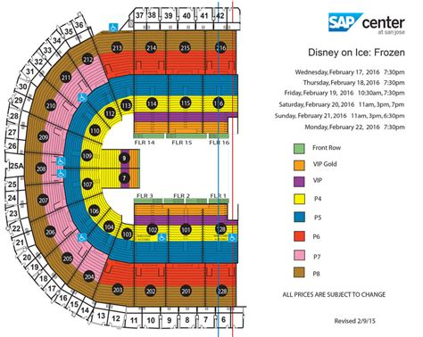 san jose sap map sap center disney on frozen