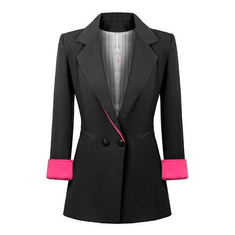 Blazer Style Black 59 european style blue black blazer for breasted work wear suit womens tuxedo