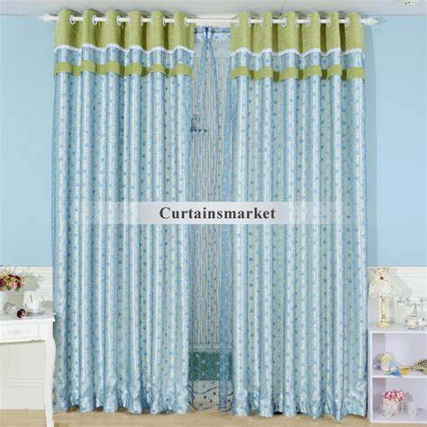 Buy Window Curtains Embroidery Blue Bedroom Buy Window Curtains