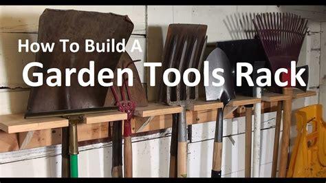 garden tools rack   build  oldschool organizer