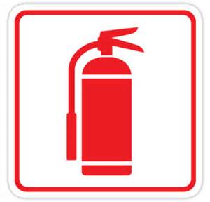 Fire Hydrant Decor Quot Fire Extinguisher Symbol Red On White With Red Border