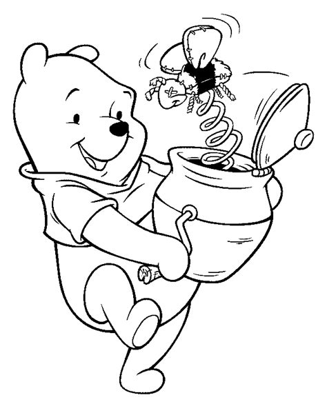 winnie the pooh and friends coloring pages learn to coloring