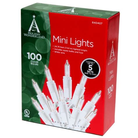 noma inliten 100 count clear christmas light set white wire