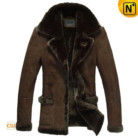 Luxurius Jacket mens fur lined leather coat luxury winter sheepskin cwmalls