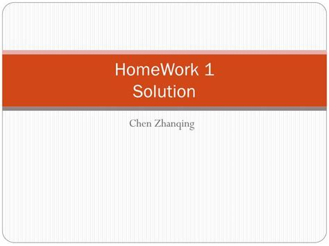 Homework Solution by Ppt Homework 1 Solution Powerpoint Presentation Id 4813915