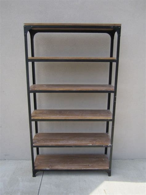 iron and wood bookcase nadeau rock