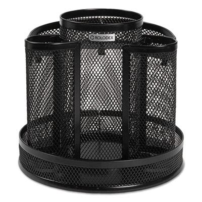 Wire Mesh Spinning Desk Sorter Black Rolodex 1773083 Black Wire Mesh Desk Accessories