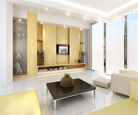 simple modern simple modern and interior design of living room with simple finished wall tv