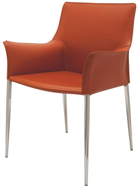 Arm Chairs Dining Colter Ochre Leather Dining Arm Chair From Nuevo Coleman Furniture