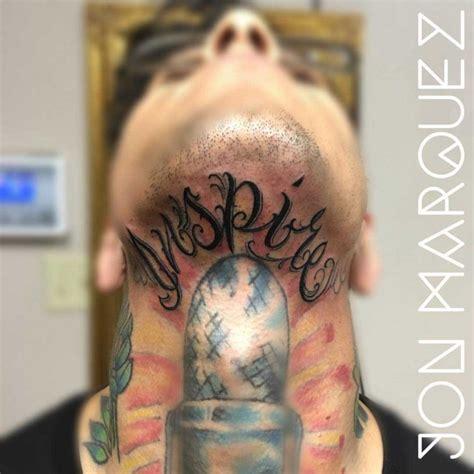 eyeball tattoo under chin lettering tattoo under the chin best tattoo ideas gallery
