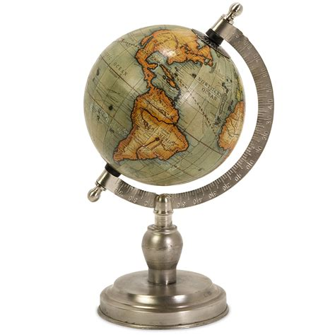 Small Desk Globes Colombo Small Globe With Nickel Finish Base By Imax In Desk Accessories