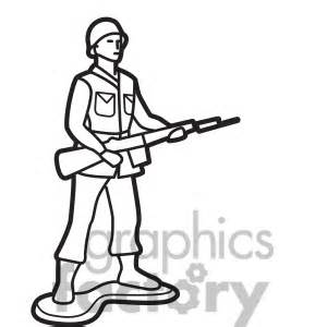 royalty free outline of toy infantry soldier illustration graphic 398040 vector clip art image