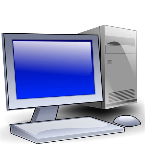clipart pc clipart generic desktop pc with screen and mouse