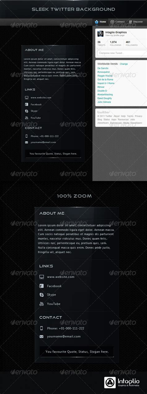 twitter layout preview sleek twitter background graphicriver