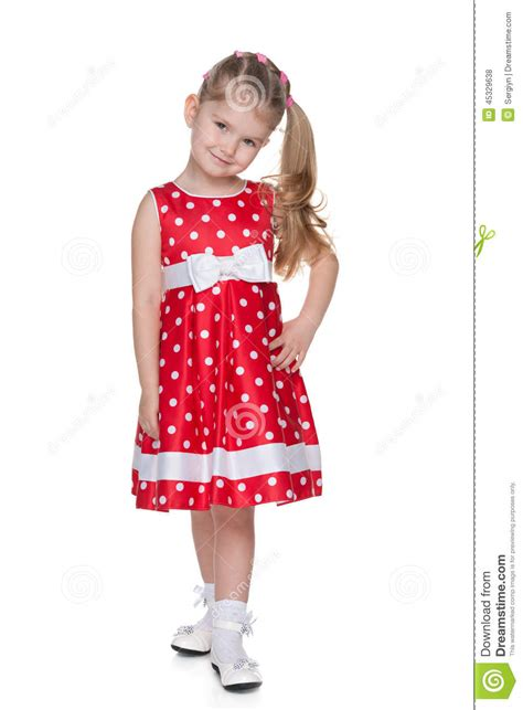Nafara Dress in the polka dot dress stock photo image