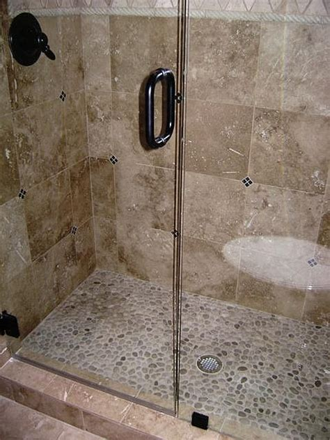 river rock bathroom ideas rock shower ideas custom shower custom travertine shower