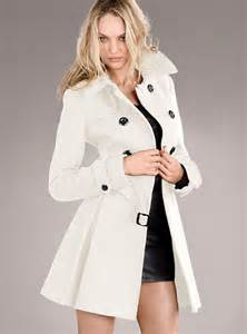 victoria s secret the wool trench coat in white winter