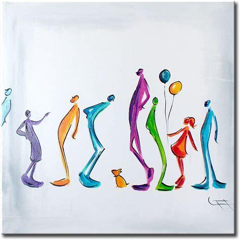 moderne wandlen mooi vierkant canvas schilderij waar de kunstenaar de