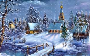 Winter happy christmas wallpaper free wallpapers