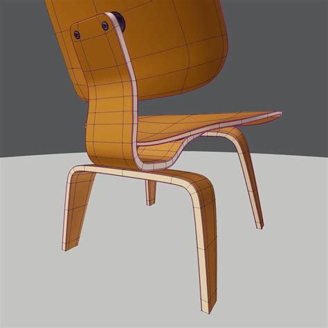 3d Printed Eames Lounge Chair 3d Model Eames Lounge Chair Wood Lcw Vr Ar Low Poly Obj Blend Cgtrader