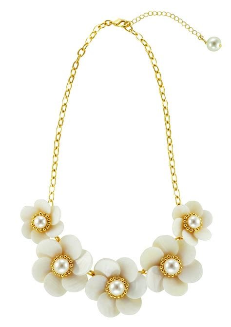 beautiful flowers statement necklace happiness boutique