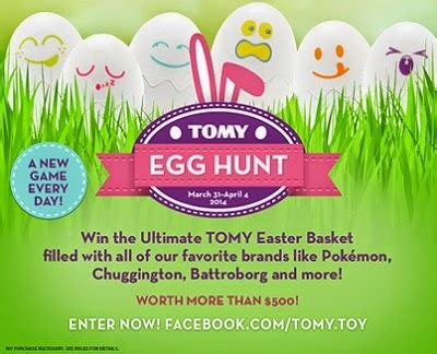 Hunting Sweepstakes - tomy spring egg hunt sweepstakes giveaway raising whasians