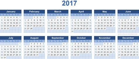 type in calendar template 2017 calendar template cyberuse