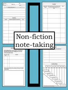Note Taking Templates by 4 Page Non Fiction Note Taking Template For Middle And