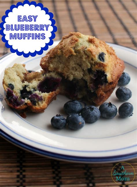 easy blueberry muffin recipe with simple streusel topping a southern mom