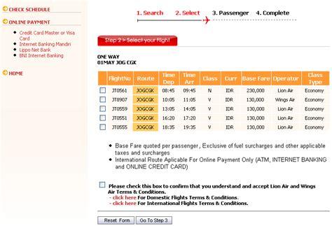 membuat website booking tiket pesawat booking online tiket pesawat lion air pengetahuan bandar