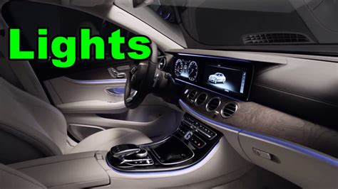 2017 e class interior video 2017 mercedes e class interior lights 2 youtube