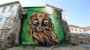 Owl Wall Mural bordalo ii www visitportugal com