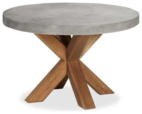Round Dining Room Sets For 4 by Abbott Concrete Top Round Fixed Dining Table