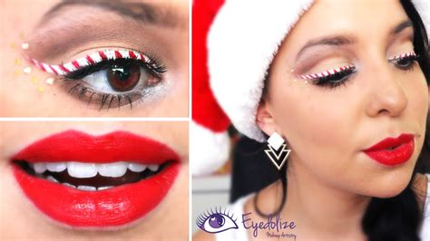 christmas makeup images candy cane eyeliner christmas makeup tutorial by