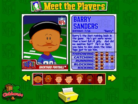 backyard football players backyard football screenshots for windows mobygames