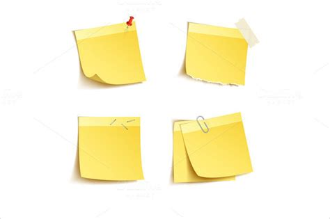 sticky note template 10 sle sticky notes psd vector eps