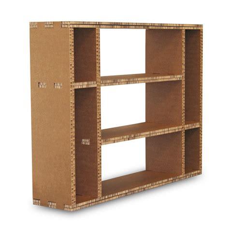 librerie in cartone libreria in cartone multi avana a 7 vani