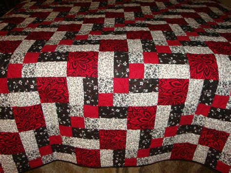 Black Patchwork Quilt - patchwork quilt white and black by quiltblocksandmore