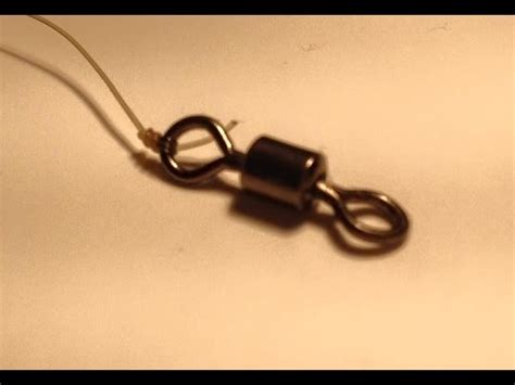 how to tie a hook or swivel to your fishing line