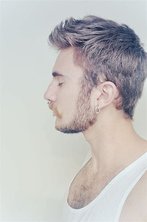malr hair tumbir 90 drop dead gorgeous men piercings inspirations