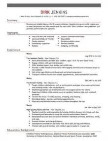 sle nanny resume interviews