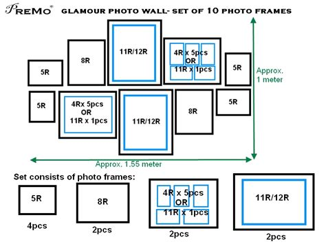 layout photo frames photo wall set of 10frames premoframe